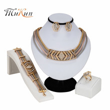 MUKUN New Fashion dubai Filled Women Party Jewelry Set Wedding Necklace Bracelet Earring Ring African Beads