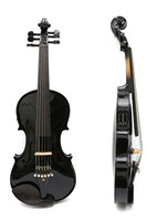 High Quality 4/4 6string Violin Solid Maple Spruce ebony Fittings Free Black Violin Case Bow