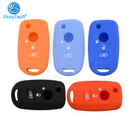 OkeyTech Soft Silicone Car Key Shell Case 3 Buttons Remote Control Key Protector Cover for FIAT Toro 500X For Dodge Neon Key
