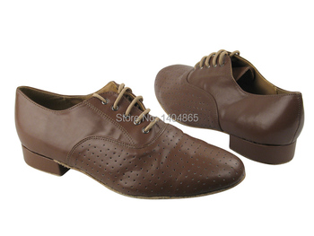 KEEWOODANCE NEW HOT special tan and gold perforated leather ballroom Latin mens dance shoes FREE SHIPPING- KeeWooPlaza