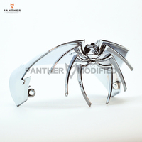 1 Pcs Chrome Motorcycle Kuryakyn Widow Taillight Cover Chrome Case For Harley FLSTS 1997 2003 FXSTD