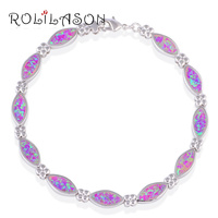 Graduation Gift Hot Sell Wholesale Amazing Pink Fire Opal Zircon Silver Christmas Bracelets Fashion Jewelry OB045