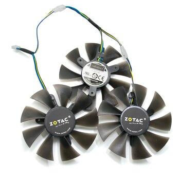 Nuevo ventilador GFY09010E12SPA 4PIN GPU uso para ZOTAC GeForce GTX 1060 6GD5 GTX 1070 8GD5 X Gaming GTX 970 4GD5 tarjetas gráficas