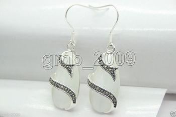 31af3a58026e Envío gratis Venta caliente de la señora 13 25mm blanco claro OPAL 925 Plata  y