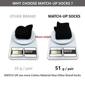 Image 3 - Match Up Calcetines Nuevos estilos hombres calcetines calcetines de Algodón de La Boda de Negocios Negro (6 Pares) tamaño EE. UU. (7.5 12)