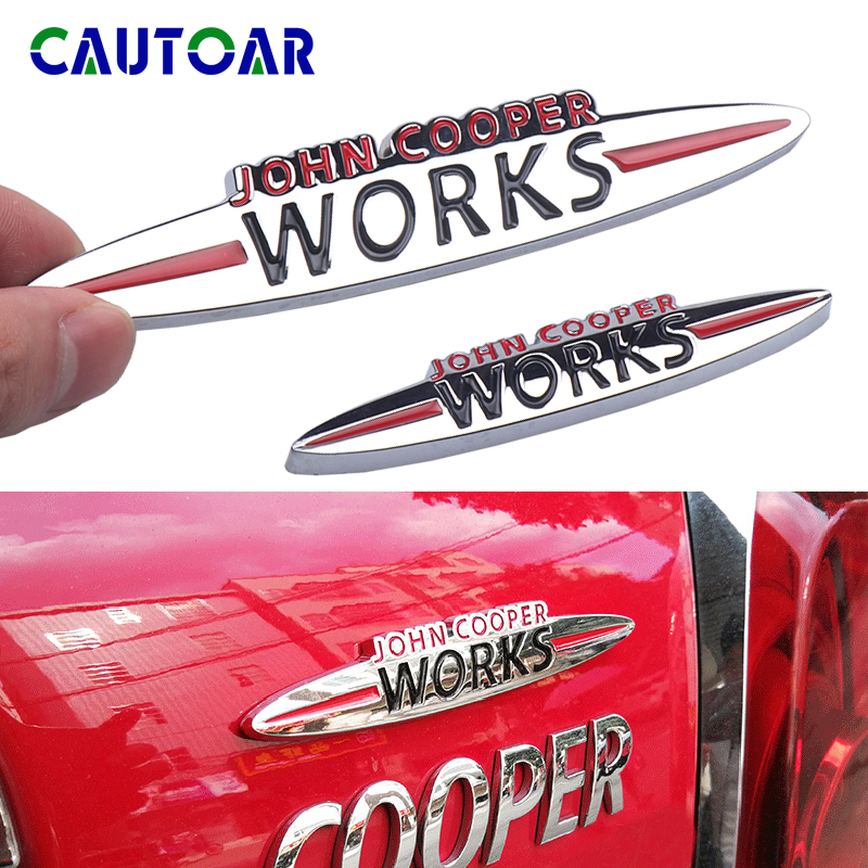 Car Styling Tail Rear Side Metal Emblem Stickers Auto Decoration Badge Decal For JCW Logo MINI Cooper R50 R52 R53 R55 R56 R57