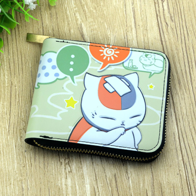 Natsume Yuujinchou Cute Anime Short Wallet My Neighbor Totoro Coin Purse Fairy Tail Colorful Card Wallet Fate Stay Night Purse pu short wallet purse with colorful printing of japanese anime tonari no totoro my neighbor totoro