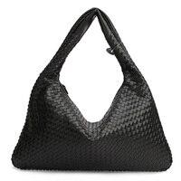 2017 Hot Tide Bag Senior Leather Woven Bag Style Handbag European And American Star Models Fashion