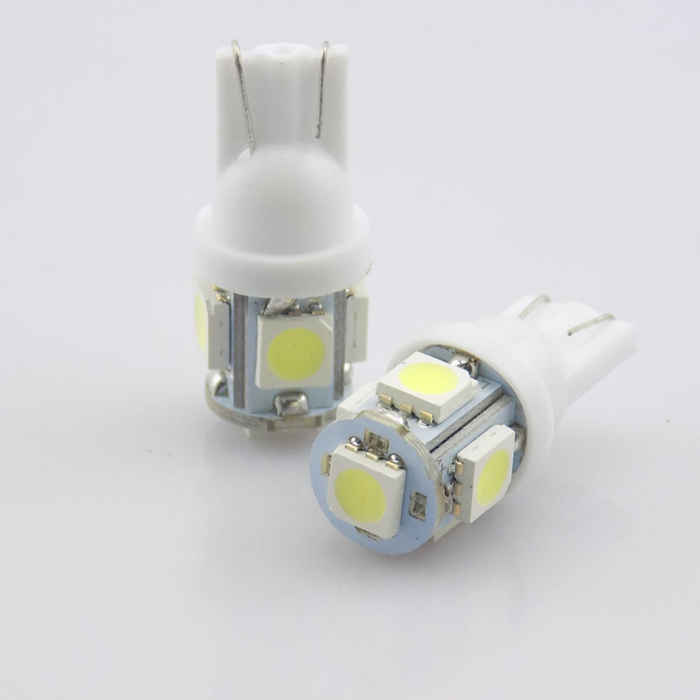 QvvCev 1Pcs 360 Degree 5050 SMD 168 194 2825 w5w T10 LED Car Led Light Bulbs For Parking led License Plate Lights Car-styling 2pcs brand new high quality superb error free 5050 smd 360 degrees led backup reverse light bulbs t15 for jeep grand cherokee