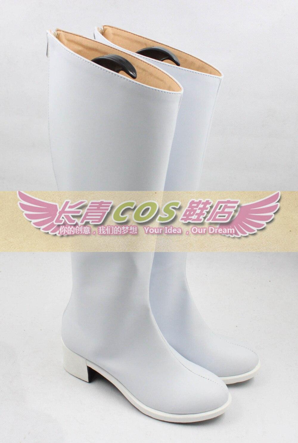 Sora no Otoshimono Nymph Girls White Halloween Long Cosplay Shoes ...