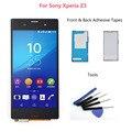 5.0 дюймов Для Sony Xperia Z3 ЖК-Экран С Сенсорным Экраном Дигитайзер Ассамблеи D6603 D6653 L55t ЖК + Клей + Инструменты Бесплатно доставка