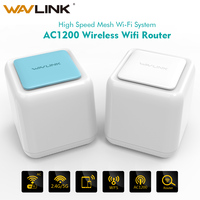 Wavlink AC1200 Беспроводной маршрутизатора WiFi Mesh Gigabit Wi Fi ретранслятор весь дом сетки Беспроводной Wi Fi Системы touchlink Dual Band 2,4 г/5 г