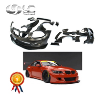 Car Styling FRP Fiber Glass Body Kit Fit For 2007 2013 E92 M3 Rocket Bunny Style Wide Body Kit Bumper Fender Spats Wing Lip