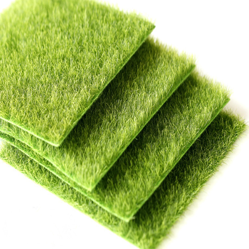 4pcs nearly natural grass mats artificial grass squares for Grass carpet tiles