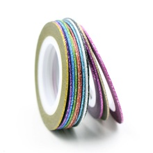 12 Colors Choice Matte Color Rolls 1mm Striping Tape Line Rough Styles Nail Art Tips Decals