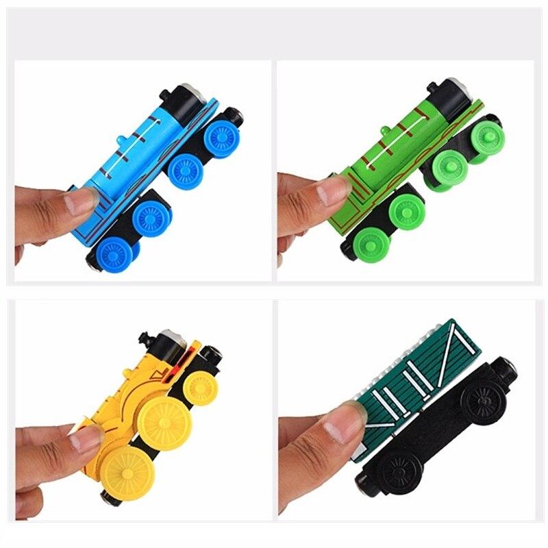 Деревянные магнитные паровозики, игрушки для железной дороги, деревянные паровозики для детей, подарок для детей, модель поезда