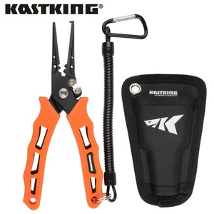 Image 1 - Kastking 420 ステンレス鋼釣プライヤータングステン超硬編組カッタークリンパーフックリムーバー海水にくい漁具