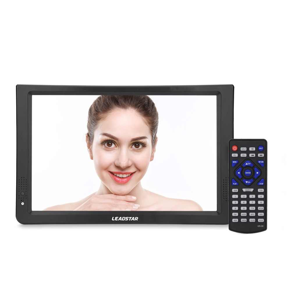 "11.6 ""DVB-T2/T Portable Televsion 1280*800 TFT-LED Mini Mobil Digital TV Analog dengan Built-In Speaker Mendukung HDMI/VGA Uni Eropa Plug"