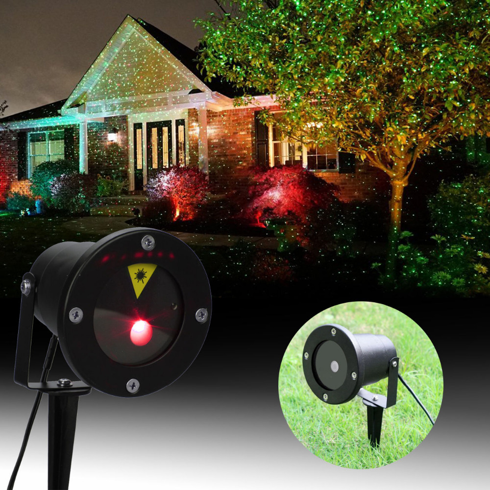 (Ship From US) Red Green Laser Projector Landscape Lighting Firefly LED Outdoor Garden Lawn Lights Xmas