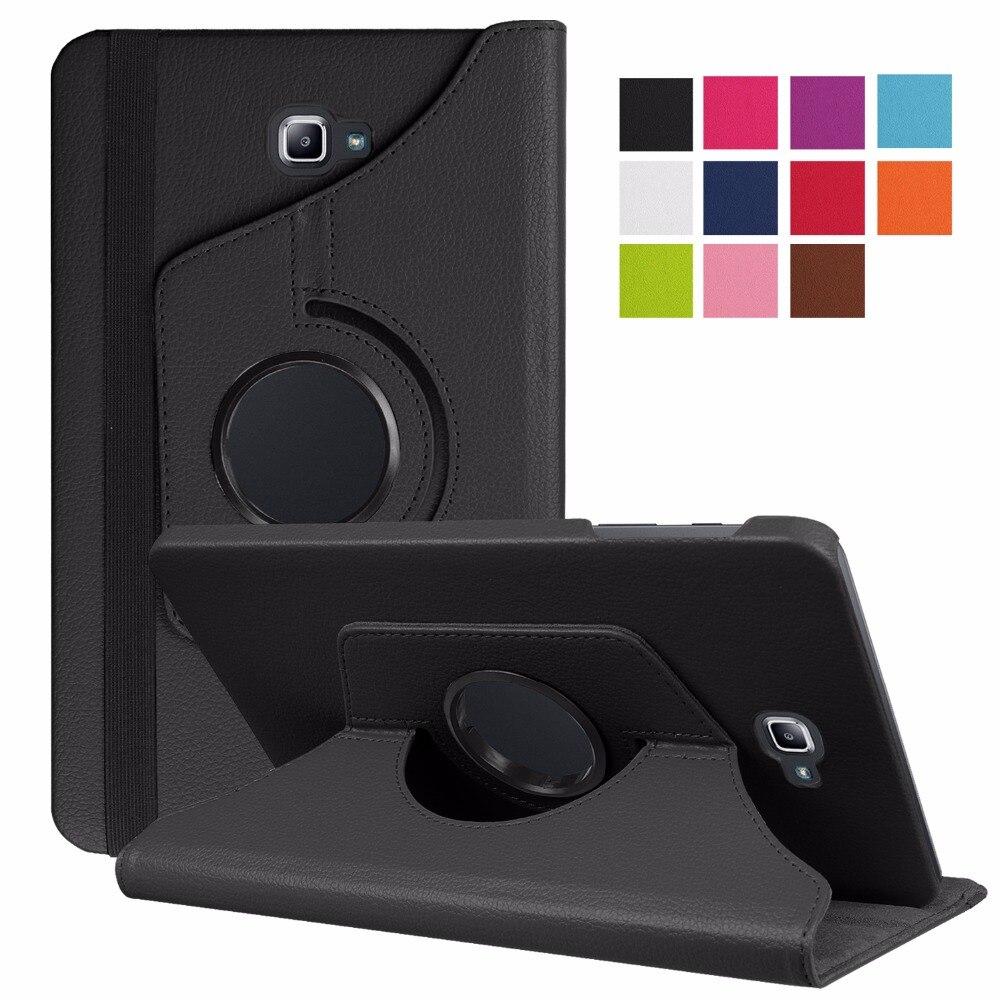 360 rotierenden Gehäuse für Samsung Galaxy Tab Eine 10,1 2016 T580 T585 Standplatz-abdeckung PU Ledertasche für Samsung Tab A6 10,1 T580N T580N