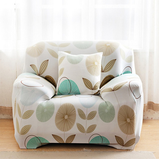 US $23.99 40% OFF|Green Leaf Print Stretch Sofa Cover Elastic Couch Cover  Loveseat Chair L Shape Sofa Case For Living Room Soft Fabric Home Decor-in  ...
