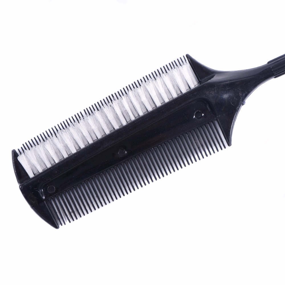 Image 2 - Professional Hairdressing Double Side Dye Comb with Nylon Hair Drying Brush Tinting Combs Hair Color Brush Hair Styling Tools-in Combs from Beauty & Health