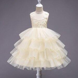 Девушка цветок принцесса Платья для женщин девочек Однотонная одежда без рукавов торт Платья для женщин Платья для девочек на свадьбу