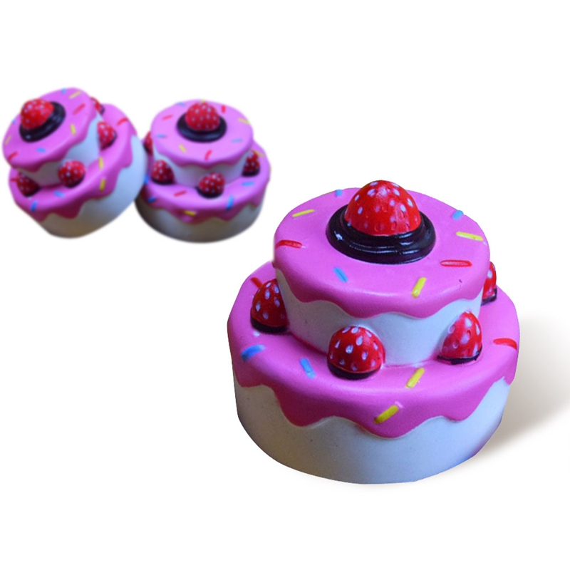 Soft Cheap Kawaii 2-Layer Strawberry Cake Toy Slow Rising for Relieves Stress Anxiety Home Decoration