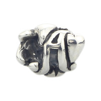 Authentic 925 Sterling Silver Charm Beads Letter Bead A Compatible Fit Troll European Brand DIY Bracelet