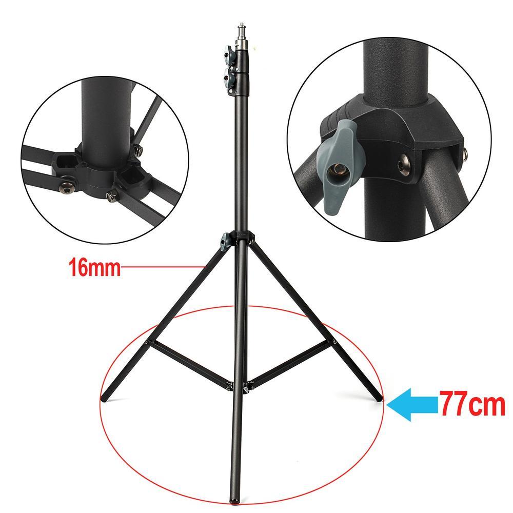 2 pcs Eachshot 200 cm 2 m Lumière Stand Trépied Avec 1/4 Vis Tête avec Caméra Trépied Support de Lampe Flash support Trépied pour L'éclairage