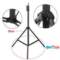 2pcs Eachshot 200cm 2m Light Stand Tripod With 1/4 Screw Head with Camera Tripod Lamp Holder Flash Bracket Tripod for Lighting