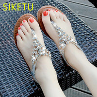 SIKETU Free Shipping Summer Sandals Fashion Casual Shoes Sex Women Shoes Flip Flop Flat Shoes Flats