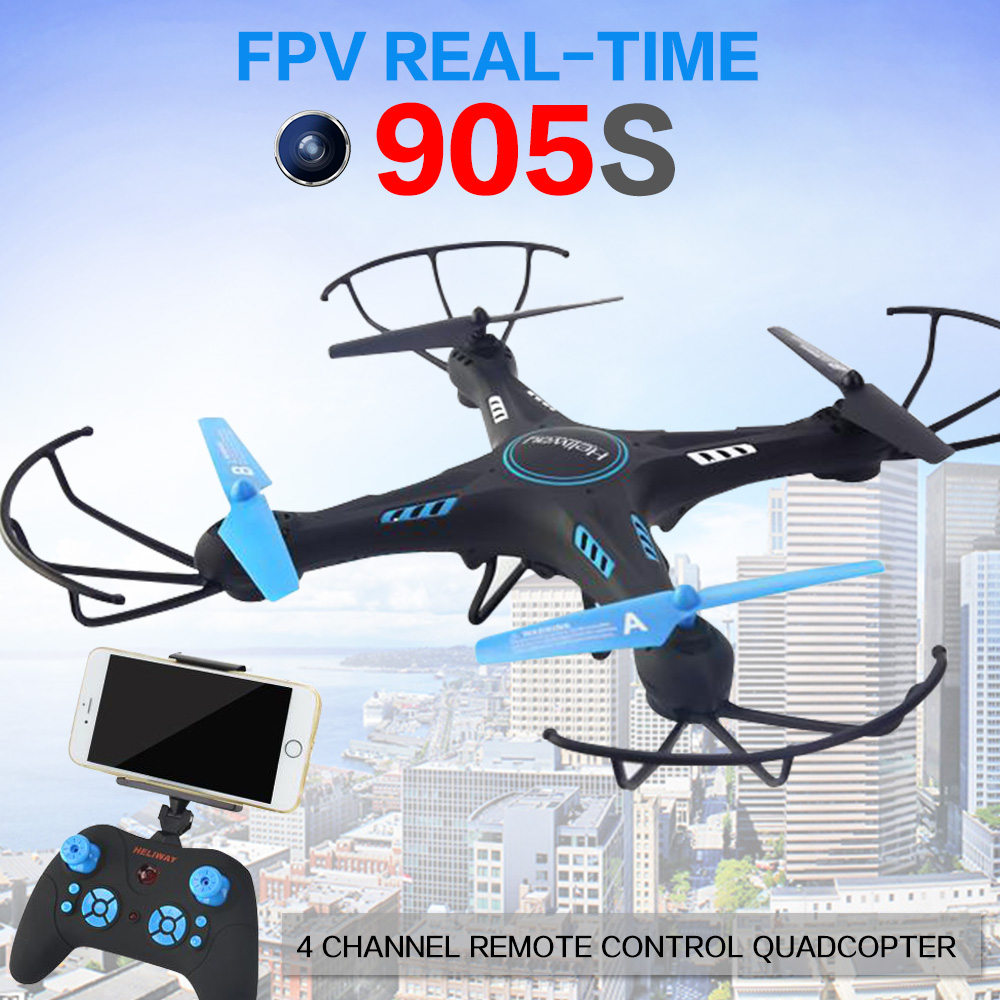 FPV Camera Drone Professional Wifi Quadcopters RC Selfie Helicopter owns 6 Axis Gyro&2.4GHz Height Hold Mode Toy #905S