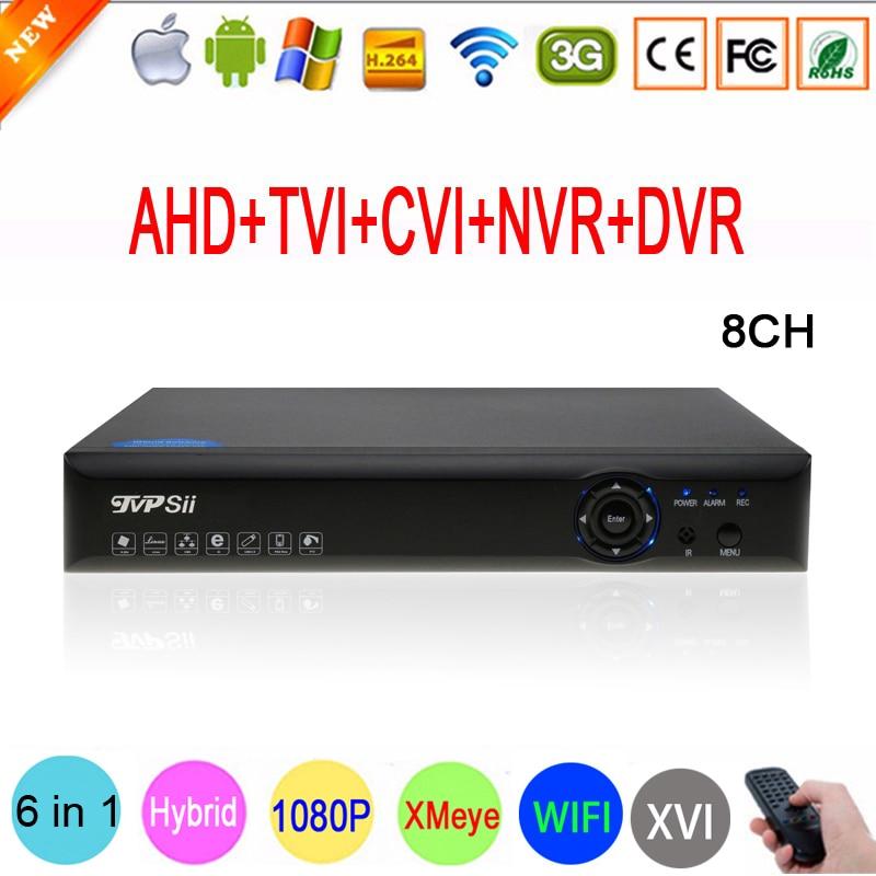 Blue-ray Xmeye Hi3520D 1080P Surveillance Camera 1080N 8 Channel 8CH 5 in 1 Hybrid Coaxial TVI CVI IP NVR AHD DVR Free Shipping gadinan 8ch ahdnh 1080n dvr analog ip ahd tvi cvi 5 in 1 dvr 4ch analog 1080p support 8 channel ahd 1080n 4ch 1080p playback