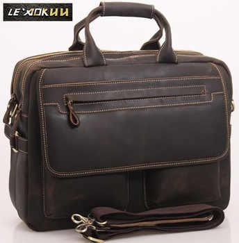Men Leather Antique Designer Business Briefcase Laptop Document Case Commercia Portfolio Attache Shoulder Messenger Bag 2951-d - DISCOUNT ITEM  49 OFF Luggage & Bags