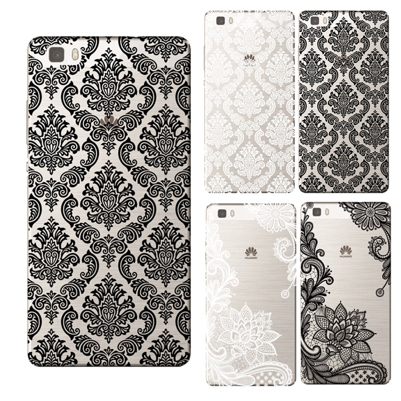 Ultrathin Soft TPU Flowers Daisy Plants Fruit Cactus Leaves pattern Case For Huawei P8 P8 Lite P9 P9 Lite Cases Coque Fundas