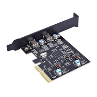 PCI E PCI Express 4X to USB 3.1 Gen2 10Gbps 2 Port Type C Expansion Card Adapter For Desktop Computer Windows 7/8/8.1/10/Linux