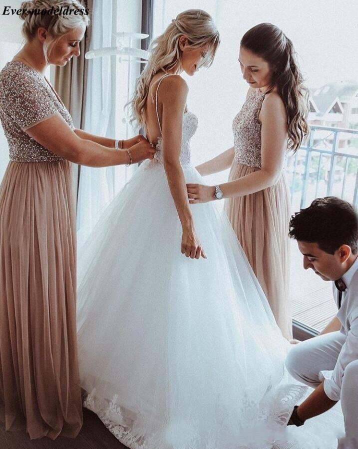2019-spaghetti-straps-beaded-pearls-tulle-boho-wedding-dresses-sleeveless-sweep-train-beach-bridal-gowns-appliques-wedding-gowns-for-brides (2)_conew1