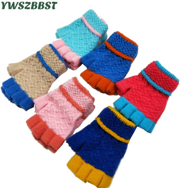 Winter Warm Kids Gloves For Boys And Girls Crochet Knit Baby Gloves
