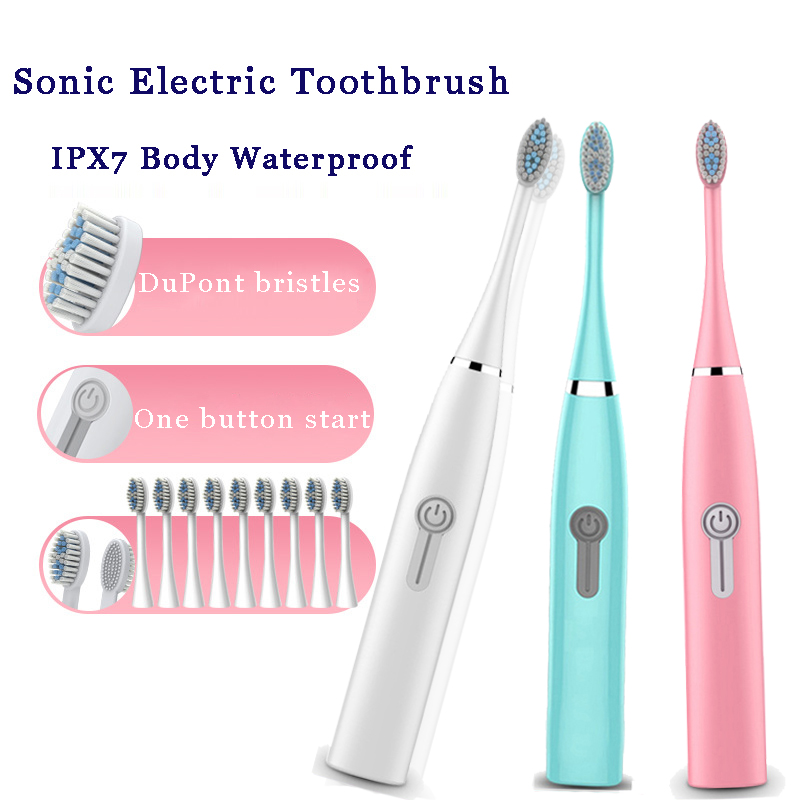 electric use toothbrush adult non-rechargeable Top Quality Smart Chip ultrasonic toothbrush Whitening Healthy Best Gift image