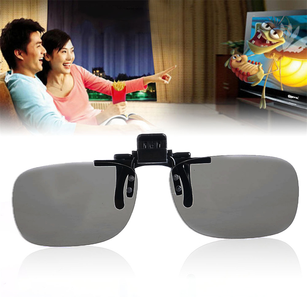 3D Glasses 1 Pair Clip On Type Passive Circular Polarized 3D Glasses Clips Fr 3D TV Movie dropshipping image