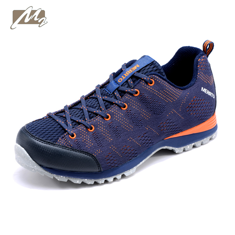 New men hiking shoes handmade climbing boots for sport sneakers navy gray black Breathable and Non-slip profession free shipping new handmade hiking shoes for men climbing boots breathable and non slip cowhide outdoor sneakers free shipping