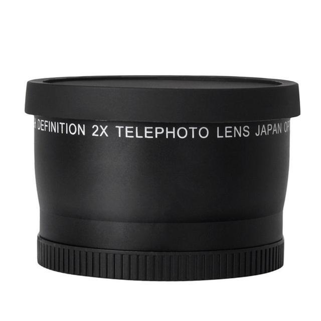 52mm 2.0x Telephoto Lens for Nikon D90 D80 D700 D3000 D3100 D3200 D5000 D5100 D5200 18-55mm DSLR Cameras 2