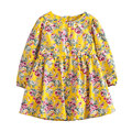 2016 New spring&autumn girls clothes cute flowers style girls print dresses fashion 2-9Y kids long sleeve dress for girls