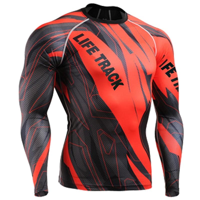 2015 spring sport t shirt men full printing surf shirts red blue green long sleeve sports