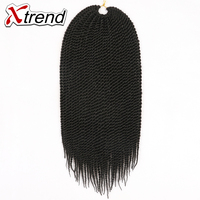 Xtrend 10PCS Senegalese Twist Hair Ombre Kanekalon Crochet Hair 18 30roots 75g Synthetic Crochet Braids Hair