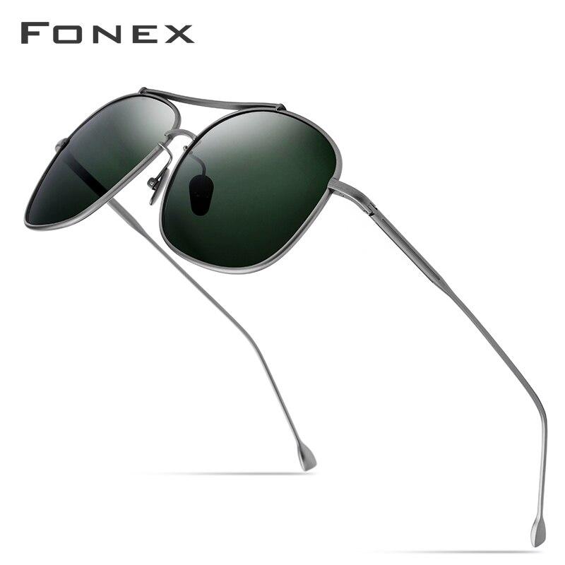 Pure Titanium Polarized Sunglasses Men Classic Square Sun Glasses For Men 2019 New High Quality Male Ultralight Shades Sunglass