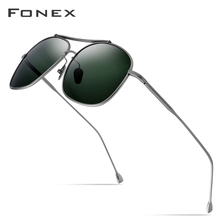 Pure Titanium Polarized Sunglasses Men Classic Square Sun Glasses for Men 2019 N