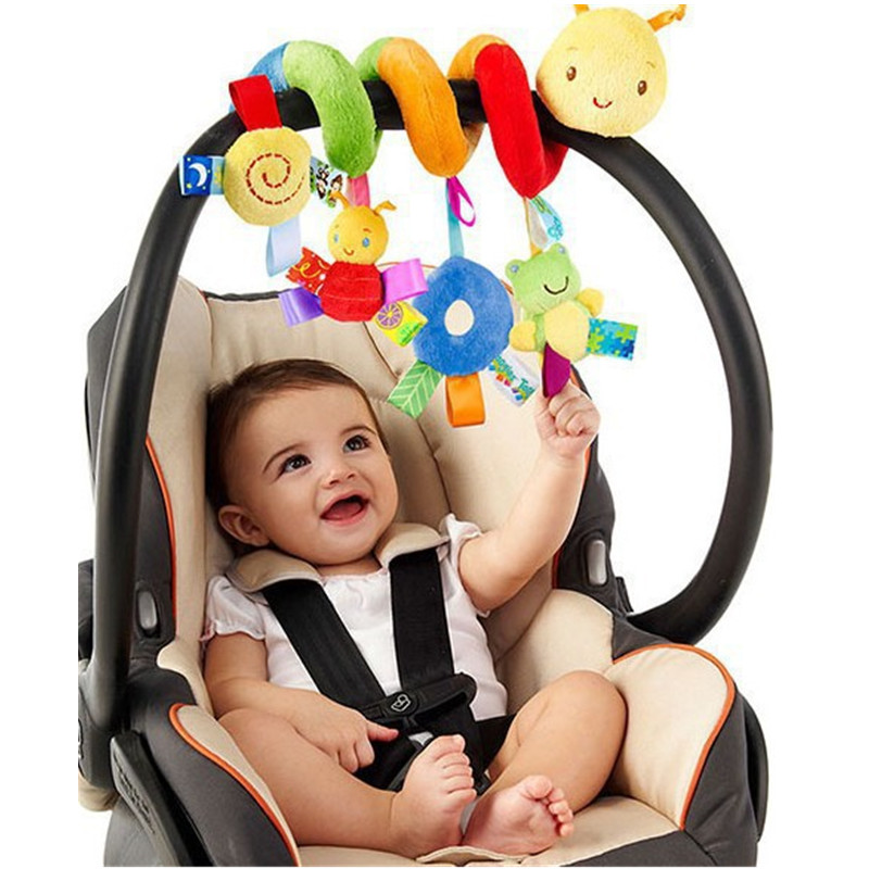 WEYA Infant Toys Baby Crib Revolves Around The Bed Stroller Playing Toy with Cat / frog Crib Lathe Hanging Baby Rattles Mobile