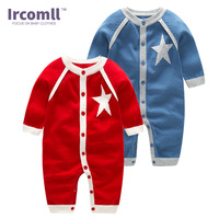 Ircomll NEWEST 2018 Newborn Baby Clothing Top Quality Sweater Stars Baby Boys Girls Rompers Spring Fashion